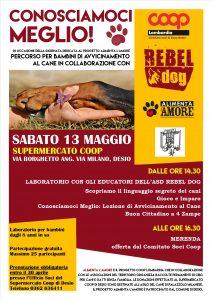 Locandina Laboratorio Rebel Dog Desio - Alimenta l'Amore