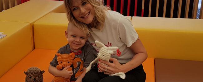 Natasha Stefanenko inaugura il day hospital dei bimbi malati