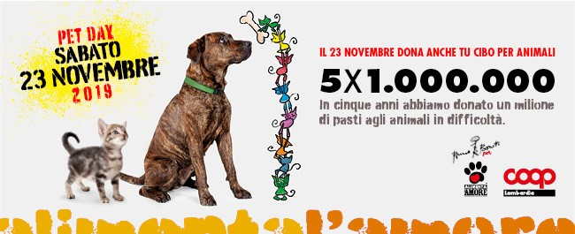 Pet Day 2019 il 23 novembre dona anche tu